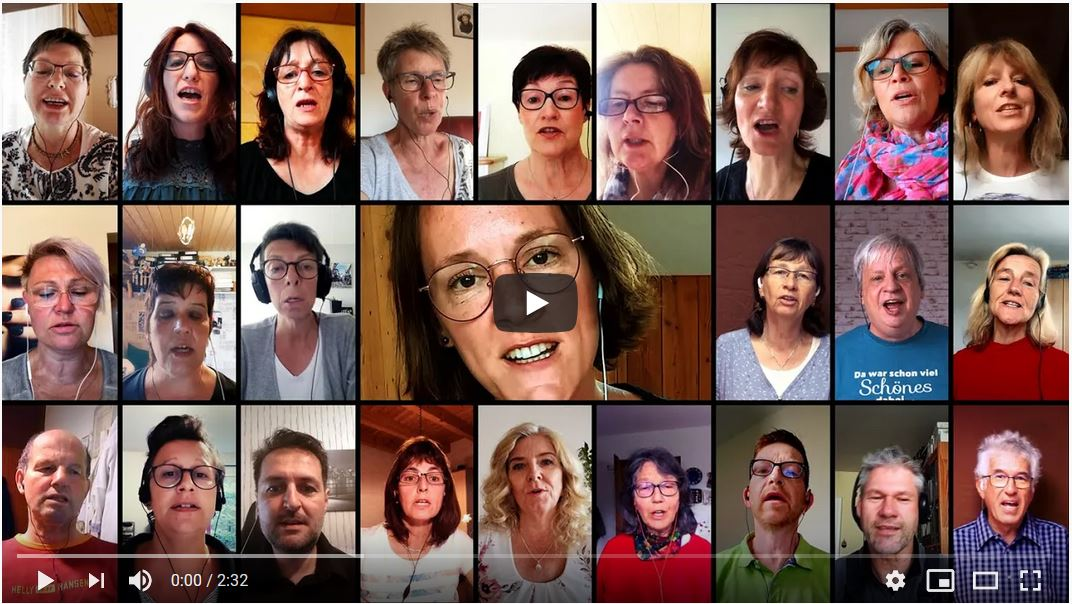 Online-Singstunde beim Chor Hay Fidelity